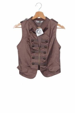 Dámská vesta , Velikost XS, Barva Hnědá, 60% polyester, 35% bavlna, 5% elastan, Cena  134,00Kč