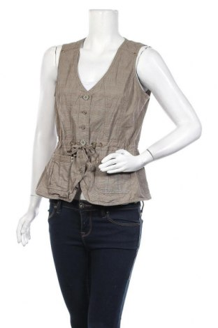 Дамски елек Bonita, Размер M, Цвят Кафяв, 98% памук, 2% еластан, Цена 16,96лв.