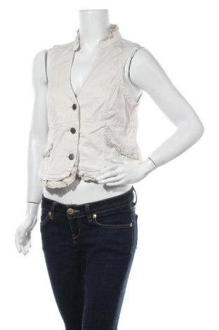 Дамски елек C.A.R.O, Размер M, Цвят Бежов, 97% памук, 3% еластан, Цена 12,71лв.