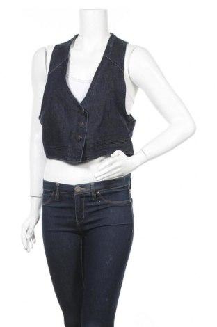 Дамски елек Evie, Размер XL, Цвят Син, 87% памук, 12% полиестер, 1% еластан, Цена 25,88лв.