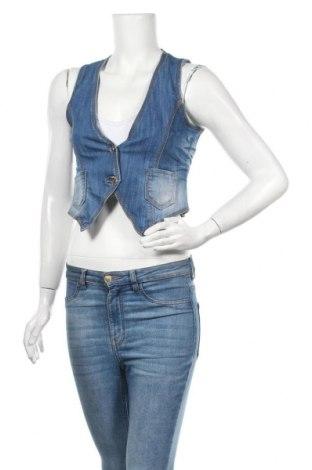 Дамски елек Girl Vivi, Размер L, Цвят Син, 75% памук, 23% полиестер, 2% еластан, Цена 5,90лв.