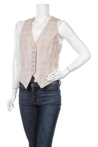 Дамски елек H&M, Размер L, Цвят Бежов, 66% памук, 34% лен, Цена 6,83лв.