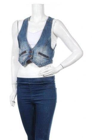 Дамски елек H&M Divided, Размер M, Цвят Син, 98% памук, 2% еластан, Цена 4,64лв.