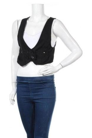 Дамски елек H&M Divided, Размер M, Цвят Черен, Цена 14,18лв.
