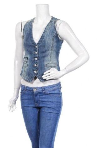 Дамски елек H&M L.O.G.G., Размер M, Цвят Син, 99% памук, 1% еластан, Цена 17,96лв.