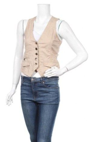 Дамски елек H&M L.O.G.G., Размер S, Цвят Бежов, 98% памук, 2% еластан, Цена 5,51лв.