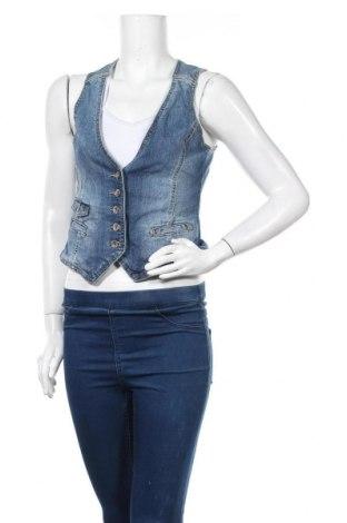 Дамски елек H&M L.O.G.G., Размер M, Цвят Син, 99% памук, 1% еластан, Цена 5,31лв.