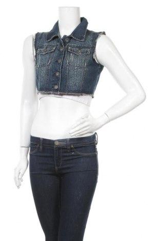 Γυναικείο γιλέκο Highway Jeans, Μέγεθος M, Χρώμα Μπλέ, 72% βαμβάκι, 20% πολυεστέρας, 8% βισκόζη, Τιμή 4,77€