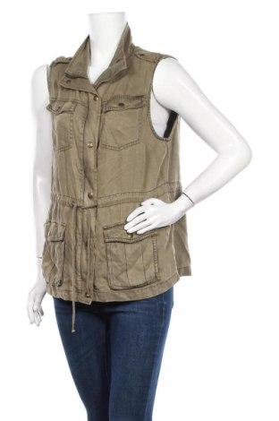 Дамски елек Max Jeans, Размер L, Цвят Зелен, Тенсел, Цена 11,03лв.