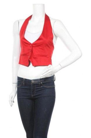 Дамски елек Pimkie, Размер S, Цвят Червен, 97% памук, 3% еластан, Цена 17,85лв.