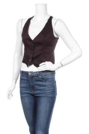 Дамски елек Tally Weijl, Размер M, Цвят Кафяв, 97% памук, 3% еластан, Цена 19,32лв.