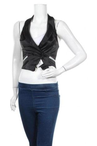 Дамски елек Tally Weijl, Размер S, Цвят Черен, 55% полиестер, 42% памук, 3% еластан, Цена 15,96лв.