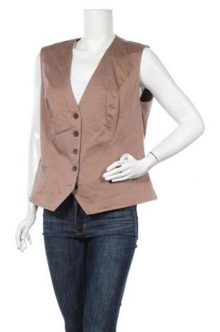 Дамски елек Women's Selection, Размер XXL, Цвят Кафяв, 97% памук, 3% еластан, Цена 20,79лв.