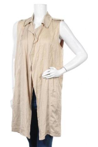 Дамски елек Zara Trafaluc, Размер S, Цвят Бежов, 100% лиосел, Цена 11,81лв.
