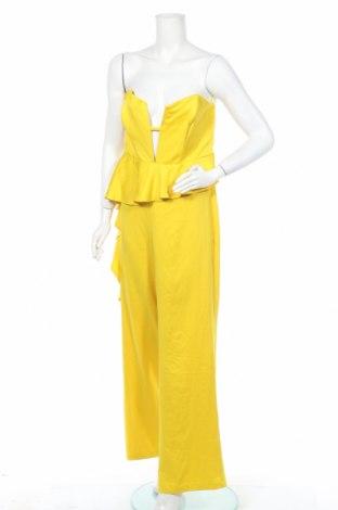 Дамски гащеризон Boohoo, Размер L, Цвят Жълт, 100% полиестер, Цена 39,00лв.