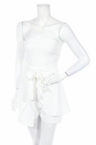 Дамски гащеризон Missguided, Размер S, Цвят Бял, 95% полиестер, 5% еластан, Цена 22,00лв.