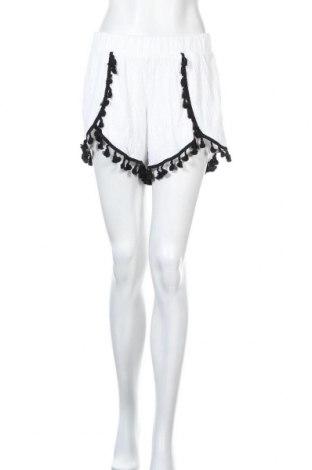 Γυναικείο κοντό παντελόνι Noisy May, Μέγεθος L, Χρώμα Λευκό, 75% πολυεστέρας, 22% βισκόζη, 3% ελαστάνη, Τιμή 13,89€
