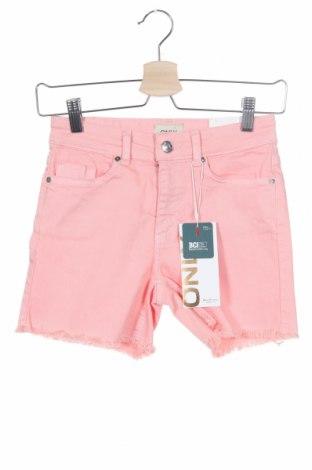 Γυναικείο κοντό παντελόνι ONLY, Μέγεθος XS, Χρώμα Ρόζ , 93% βαμβάκι, 5% πολυεστέρας, 2% ελαστάνη, Τιμή 17,78€