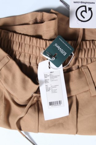Γυναικείο κοντό παντελόνι ONLY, Μέγεθος S, Χρώμα Καφέ, 63% βισκόζη, 32% πολυαμίδη, 5% ελαστάνη, Τιμή 14,65€