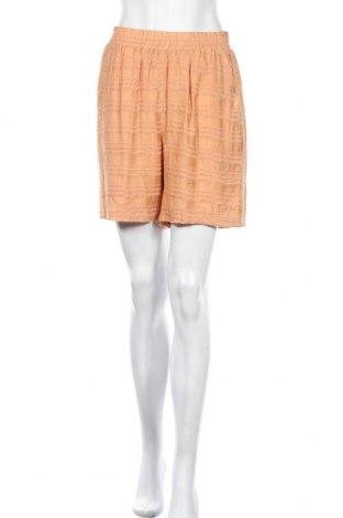 Γυναικείο κοντό παντελόνι Object, Μέγεθος M, Χρώμα  Μπέζ, 85% βισκόζη, 15% πολυαμίδη, Τιμή 13,89€