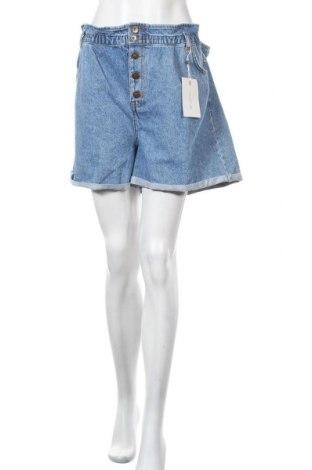 Дамски къс панталон Only Carmakoma, Размер XL, Цвят Син, Памук, Цена 31,85лв.