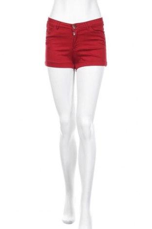 Γυναικείο κοντό παντελόνι Oodji, Μέγεθος S, Χρώμα Κόκκινο, 64% βαμβάκι, 34% πολυεστέρας, 2% ελαστάνη, Τιμή 8,12€