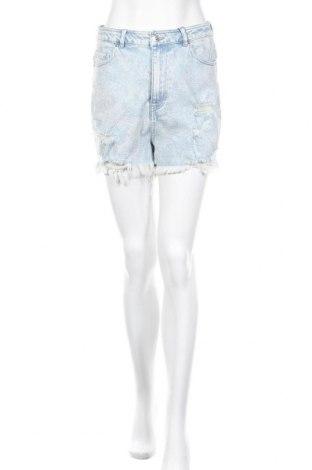 Γυναικείο κοντό παντελόνι Pieces, Μέγεθος M, Χρώμα Μπλέ, 99% βαμβάκι, 1% ελαστάνη, Τιμή 15,16€