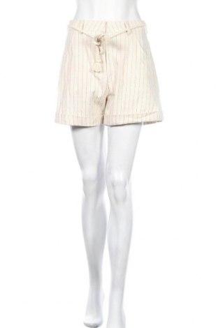 Дамски къс панталон Pieces, Размер M, Цвят Бежов, Цена 19,60лв.