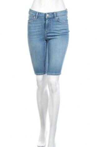 Γυναικείο κοντό παντελόνι Pieces, Μέγεθος M, Χρώμα Μπλέ, 89% βαμβάκι, 7% πολυεστέρας, 4% ελαστάνη, Τιμή 15,54€