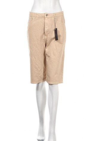 Γυναικείο κοντό παντελόνι Vero Moda, Μέγεθος M, Χρώμα  Μπέζ, Βαμβάκι, Τιμή 16,70€
