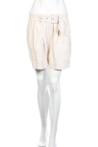 Γυναικείο κοντό παντελόνι Vero Moda, Μέγεθος S, Χρώμα  Μπέζ, 80% βισκόζη, 20% λινό, Τιμή 15,16€