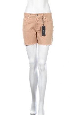 Γυναικείο κοντό παντελόνι Vero Moda, Μέγεθος S, Χρώμα  Μπέζ, 98% βαμβάκι, 2% ελαστάνη, Τιμή 13,89€