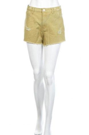 Γυναικείο κοντό παντελόνι Vila, Μέγεθος M, Χρώμα Πράσινο, Βαμβάκι, Τιμή 16,15€