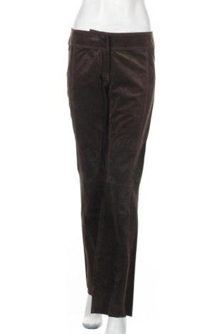 Γυναικείο παντελόνι δερμάτινο Hallhuber, Μέγεθος S, Χρώμα Καφέ, Φυσικό σουέτ, Τιμή 44,81€