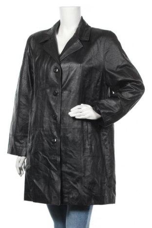 Дамски кожен шлифер, Размер M, Цвят Черен, Естествена кожа, Цена 16,59лв.
