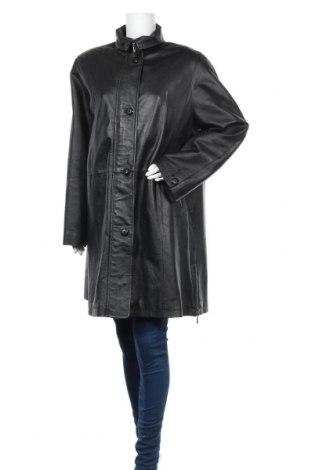 Γυναικεία δερμάτινη καμπαρντίνα Fabiani, Μέγεθος L, Χρώμα Μαύρο, Γνήσιο δέρμα, Τιμή 26,82€