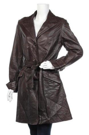 Дамски кожен шлифер S.Oliver, Размер L, Цвят Кафяв, Естествена кожа, Цена 92,82лв.