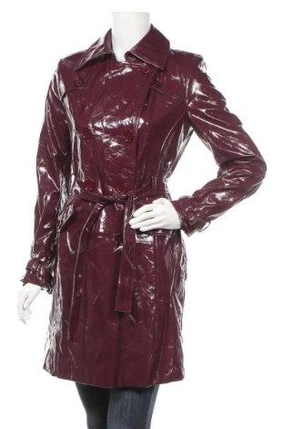 Дамски кожен шлифер Un Deux Trois, Размер S, Цвят Розов, Еко кожа, Цена 66,36лв.