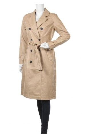 Дамски кожен шлифер Vero Moda, Размер S, Цвят Бежов, Еко кожа, Цена 70,08лв.