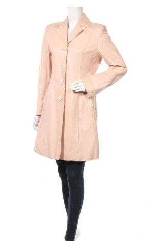 Дамски кожен шлифер Walter, Размер M, Цвят Розов, Естествена кожа, Цена 66,15лв.