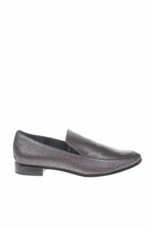 Γυναικεία παπούτσια Calvin Klein, Μέγεθος 38, Χρώμα Γκρί, Γνήσιο δέρμα, Τιμή 65,02€