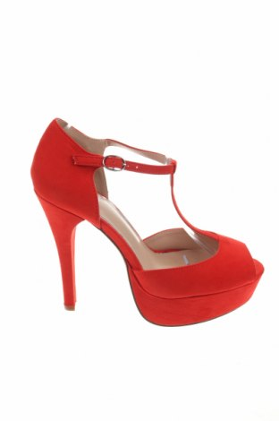 Дамски обувки Even&Odd, Размер 40, Цвят Червен, Текстил, Цена 23,60лв.