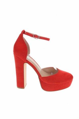Дамски обувки Even&Odd, Размер 38, Цвят Червен, Текстил, Цена 38,35лв.