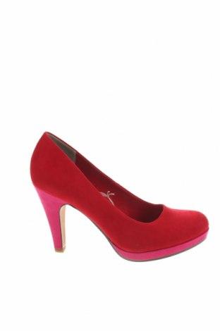 Γυναικεία παπούτσια Marco Tozzi, Μέγεθος 40, Χρώμα Κόκκινο, Κλωστοϋφαντουργικά προϊόντα, Τιμή 27,83€
