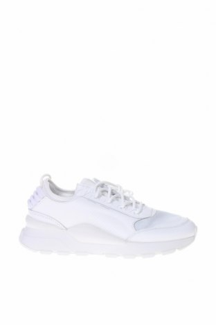 Γυναικεία παπούτσια PUMA, Μέγεθος 37, Χρώμα Λευκό, Γνήσιο δέρμα, κλωστοϋφαντουργικά προϊόντα, δερματίνη, Τιμή 73,07€