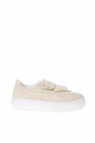 Γυναικεία παπούτσια PUMA, Μέγεθος 35, Χρώμα Εκρού, Φυσικό σουέτ, Τιμή 65,33€