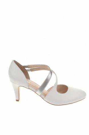 Γυναικεία παπούτσια Pier One, Μέγεθος 38, Χρώμα Λευκό, Γνήσιο δέρμα, Τιμή 39,87€