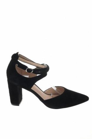 Γυναικεία παπούτσια Pier One, Μέγεθος 38, Χρώμα Μαύρο, Φυσικό σουέτ, Τιμή 39,87€