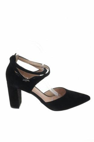Γυναικεία παπούτσια Pier One, Μέγεθος 39, Χρώμα Μαύρο, Φυσικό σουέτ, Τιμή 43,22€