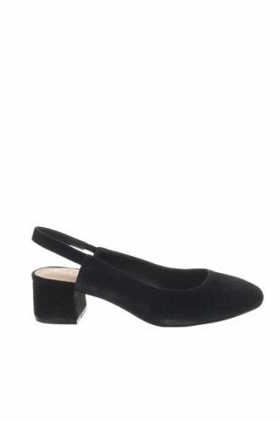 Γυναικεία παπούτσια Pier One, Μέγεθος 37, Χρώμα Μαύρο, Φυσικό σουέτ, Τιμή 46,54€
